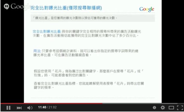 Google AdWords 關鍵字廣告 進階搜尋 完全比對 搜尋聯播網