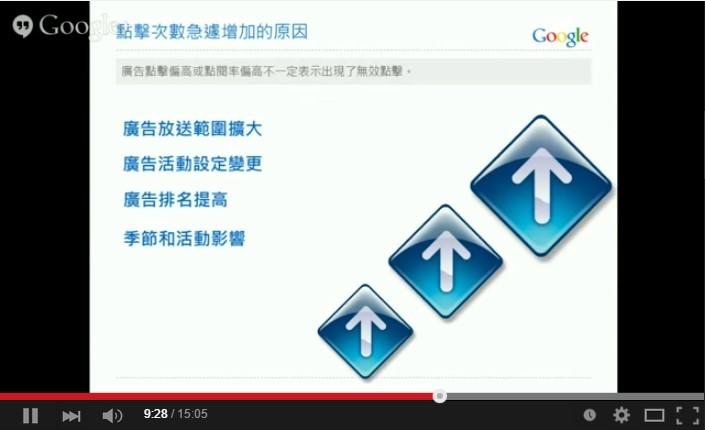 Google AdWords 關鍵字廣告 進階搜尋 無效點擊 次數
