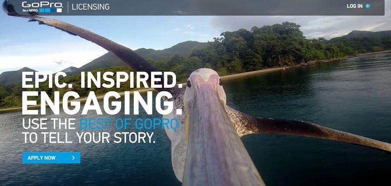 GoPro, Licensing,影片,平台