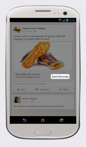 Facebook,行動版專頁,電商