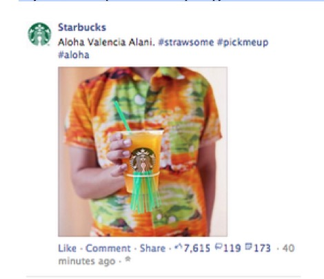 Starbucks #strawsome