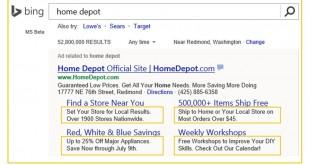 網站連結額外資訊, Bing Ads, 關鍵字廣告