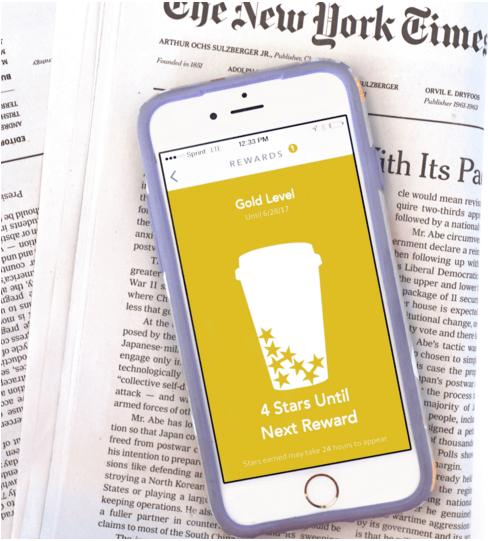 Starbucks 和紐約時報合作 提升App使用率