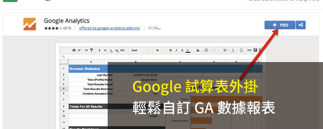 Google 試算表,GA報表,Google Analytics