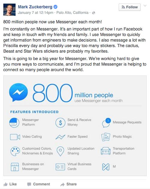 Facebook,即時通,臉書