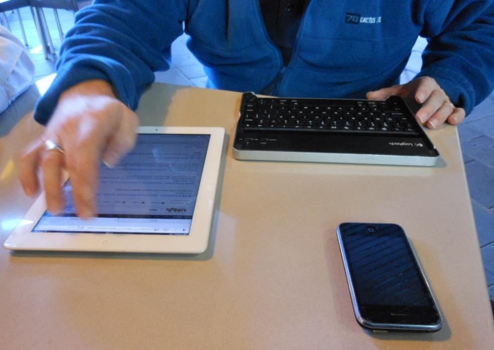 電子報, 郵件, 滑手機