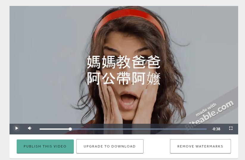 Biteable, 最簡單, 製作影片