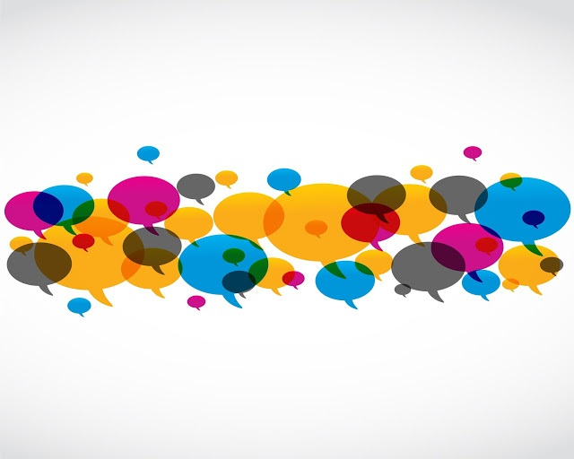 16307484 - abstract colorful speech bubble design