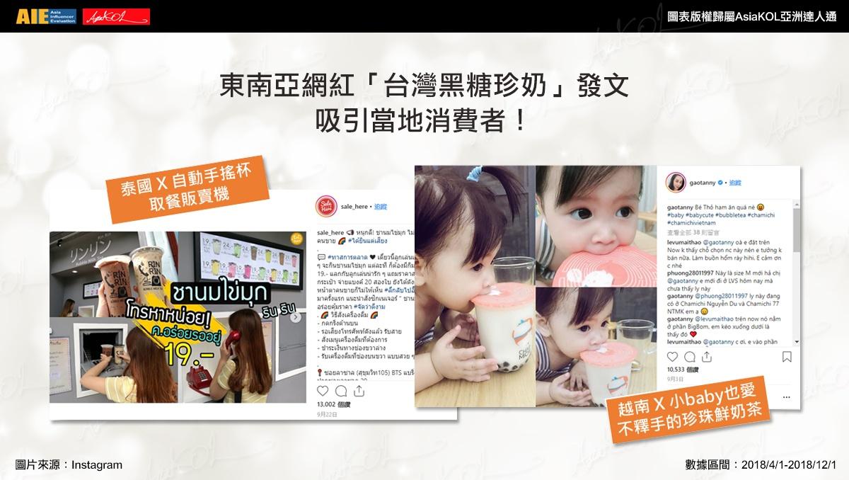 來自台灣的黑糖珍奶襲擊!東南亞網紅也無法擋