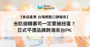 i-Buzz產業數據_去吃迴轉壽司一定要抽扭蛋?日式平價品牌跨海來台PK
