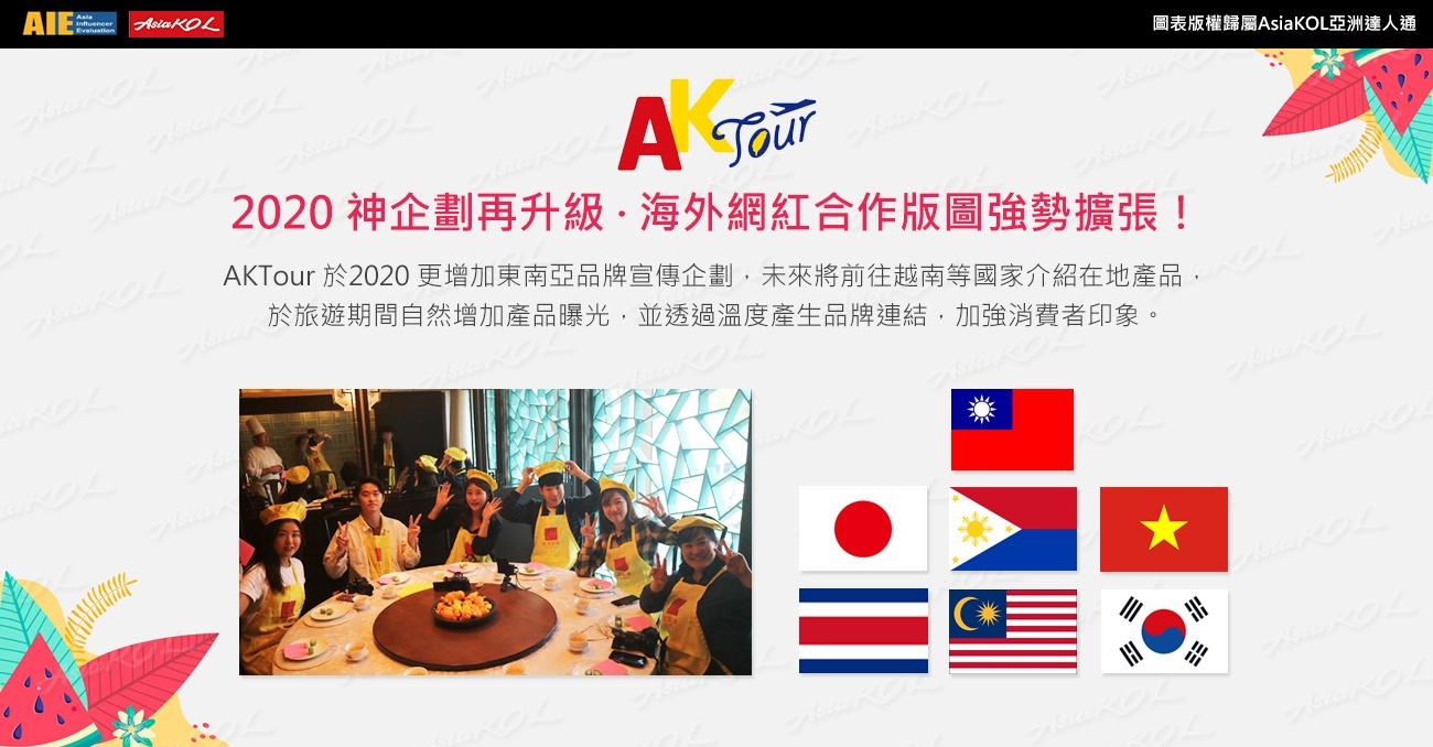 AKTour力邀日、韓、大馬、菲國網紅推動品牌國際聲量!